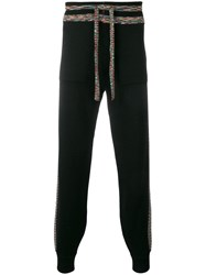 Missoni Rainbow Stripe Track Pants Black