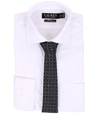 Lauren Ralph Lauren Slim Fit Stretch Non Iron Popin Estate Spread Collar Dress Shirt White Men's Clothing