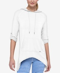 Tommy Hilfiger Handkerchief Hem Hoodie Only At Macy's White