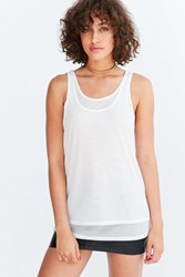 Silence And Noise Selda Double Layer Mesh Tank Top Ivory