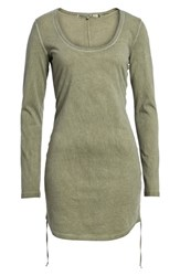 Pam And Gela Scoop Neck Body Con Dress Olive Smoke