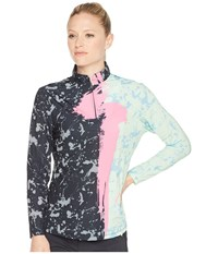 Jamie Sadock Sunsense R Lightweight Brushstroke Print 1 4 Zip Long Sleeve Top With 50 Spf Mint Julep Long Sleeve Pullover Green