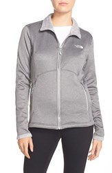 Women's The North Face 'Agave' Water Repellent Jacket Metallic Silver Heather