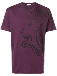 Etro Printed T Shirt Pink And Purple