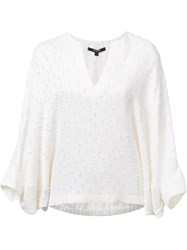Derek Lam Three Quarter Sleeve Blouse White