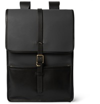 Miansai Harbour Canvas And Leather Backpack Gray