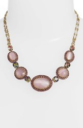 Sorrelli Oval And Round Station Collar Necklace Purple Multi