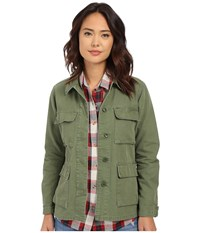 Obey Bitter End Jacket Army Women's Coat Green