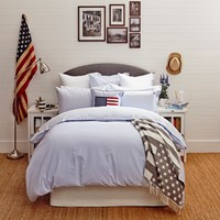 Lexington Pinpoint Duvet Cover Blue White King