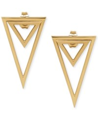 Macy's Double Triangle Drop Earrings In 14K Gold