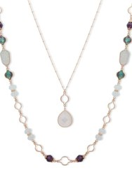 Lonna And Lilly Two In One Abalone Mop Necklace Blue Green