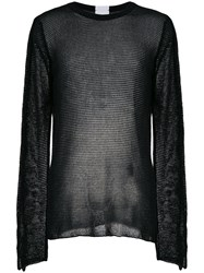 Lost And Found Rooms Crew Neck Sweater Cotton Polyamide Black
