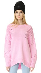 Wildfox Couture Corone Sweater Flamingo Pink