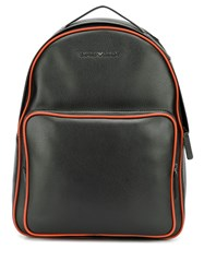 Emporio Armani Contrast Trimmed Backpack 60