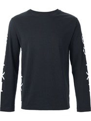 Single Dress Single 'Symbols' Longsleeved T Shirt Black