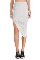 Bella Luxx Twisted Side Drape Skirt Gray