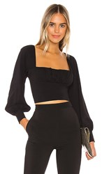 Capulet Florence Ruched Blouse In Black.