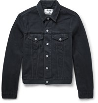 Acne Studios Slim Fit Overdyed Denim Jacket Black
