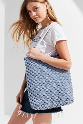 Urban Outfitters Rope Macrama Tote Bag Blue