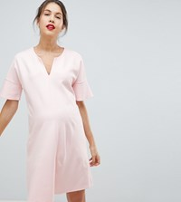 Isabella Oliver Shift Dress With Fluted Sleeves Pink
