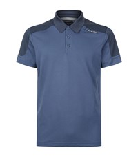Porsche Design Colourblock Polo Shirt Male Blue