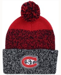 47 Brand '47 St. Cloud State Huskies Static Cuff Knit Hat Charcoal Red Black