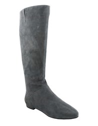 Nina Wynona Suede Knee High Boots Charcoal Grey