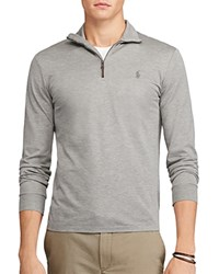 Polo Ralph Lauren Cotton Mesh Half Zip Pullover Shirt Speedway Gray Heather