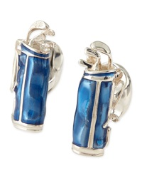 Deakin And Francis Sterling Silver Golf Bag Cuff Links