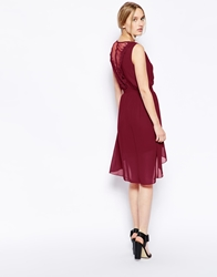 Jasmine Dress With Back Detail Red