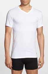 Polo Ralph Lauren Men's 3 Pack Trim Fit T Shirt White White