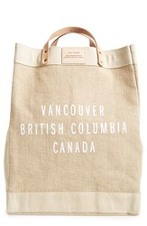 Apolis City Market Tote White Natural