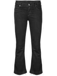 Rta Cropped Dotted Jeans Black