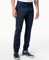 Tallia Orange Men's Modern Fit Navy Solid Jogger Dress Pants