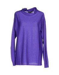 Les Copains Knitwear Turtlenecks Women Purple