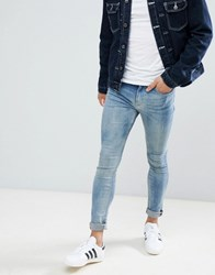 New Look Super Skinny Jeans In Blue Wash Light Blue