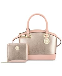 Anne Klein New Recruits Gift Set With French Wallet Rose Gold Peony
