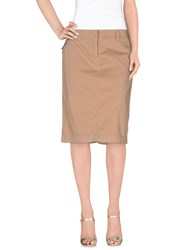 Henry Cotton's Skirts Knee Length Skirts Women Khaki