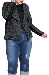 Rachel Roy Plus Size Frankie Cotton Blend Jacket Black