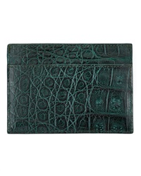 Walter Steiger Crocodile Card Holder Green