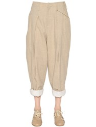 Y's Cotton And Linen Canvas Pants