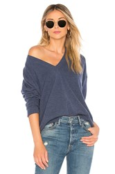 Autumn Cashmere Relaxed V Neck Sweater Slate