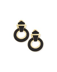 18K Gold Ebony Buckle Earrings David Webb