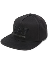 Emporio Armani Ea7 Embroidered Logo Cap Black