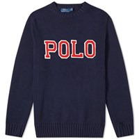 Polo Ralph Lauren Applique Logo Crew Knit Blue