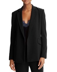 Dylan Gray Crepe Open Blazer Black