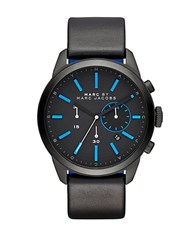 Marc By Marc Jacobs Mbm5096 Black Stainless Steel Black Leather Strap Chronograph