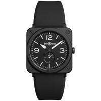 Bell And Ross Brs Bl Cem Unisex Ceramic Rubber Strap Watch Black