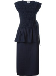 3.1 Phillip Lim Ruched Panel Dress Blue