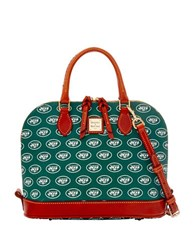 Dooney And Bourke Jets Zip Satchel Green Jets